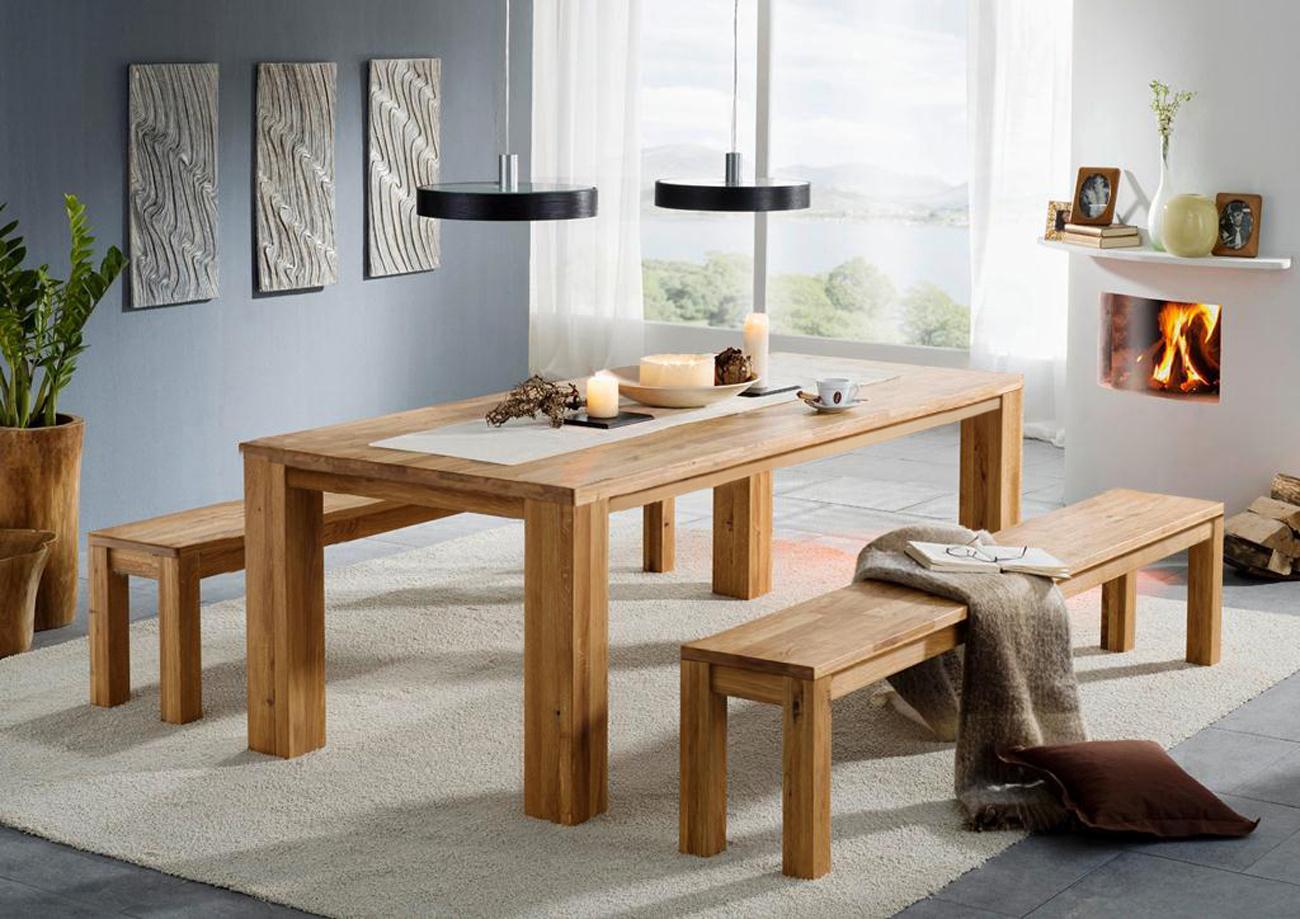 sale esstisch esszimmertisch wildeiche 180 x 90 cm. Black Bedroom Furniture Sets. Home Design Ideas
