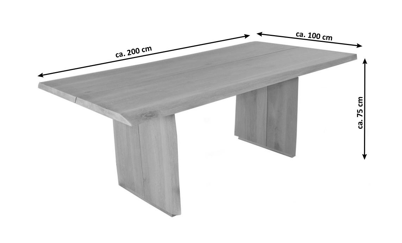 Fesselnde Esstisch 200 Cm Galerie Von Sale Esszimmertisch X 100 Massivholz Eiche Oak
