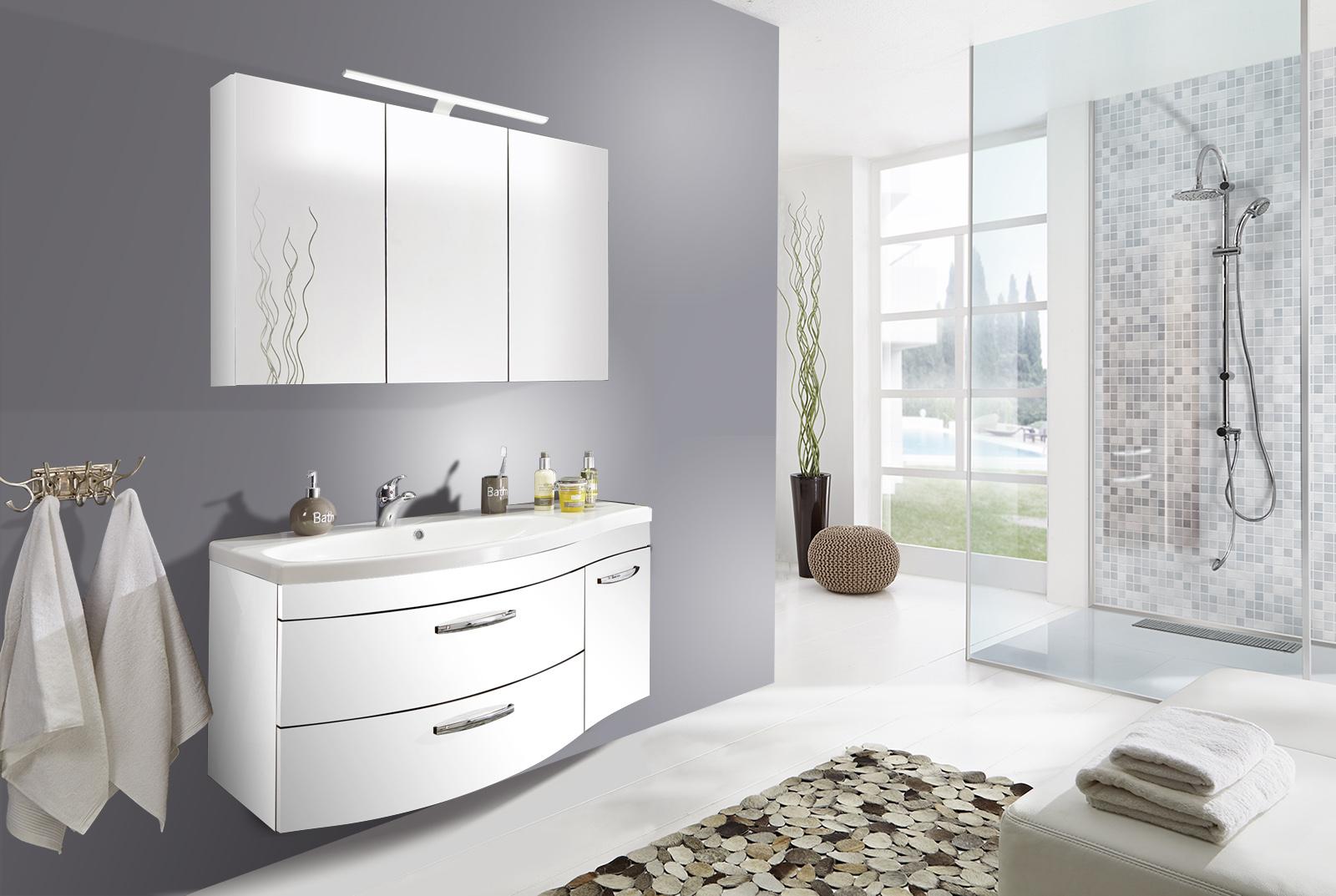 sam badm bel set 2tlg waschtisch 110 cm wei matt vena links. Black Bedroom Furniture Sets. Home Design Ideas