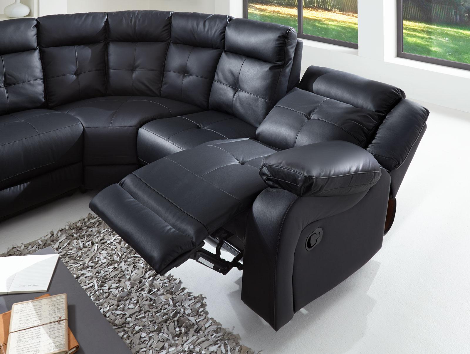 Sale ecksofa wohnlandschaft relaxsessel 190 cm schwarz alessio for Relaxsessel sale