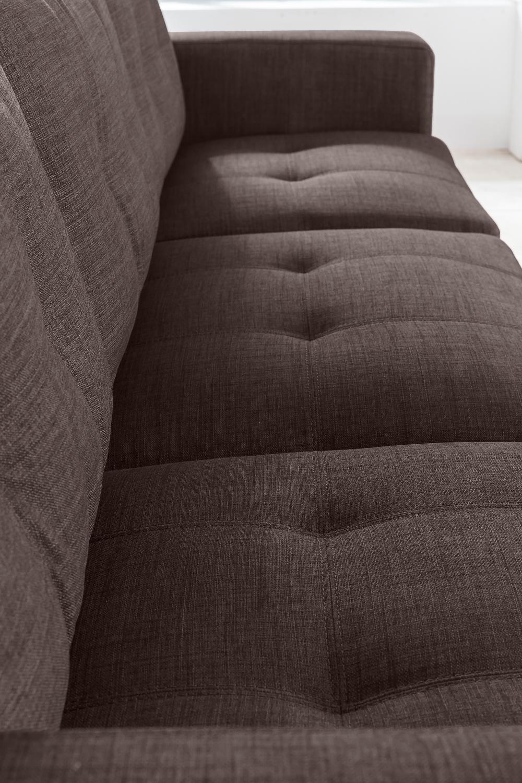 SALE Ecksofa Couch Polsterecke 270 Cm Braun Stoff Aviano Auf Lager !