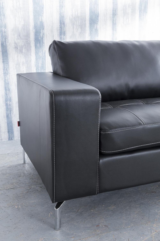 sale wohnlandschaft couchgarnitur 2tlg sofa dunkelgrau belair. Black Bedroom Furniture Sets. Home Design Ideas