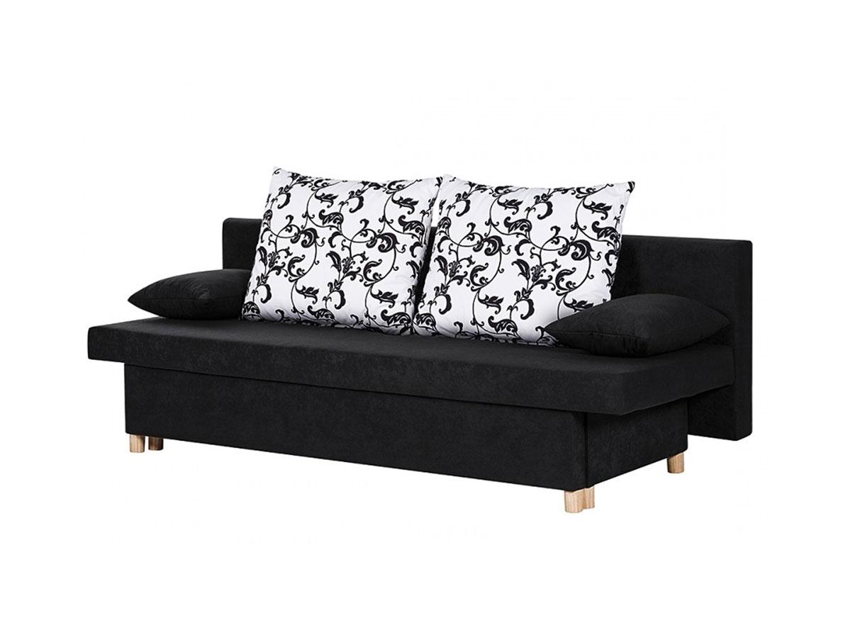 SALE Sofa Schlafsofa Couch 192 cm schwarz Stoff Willy