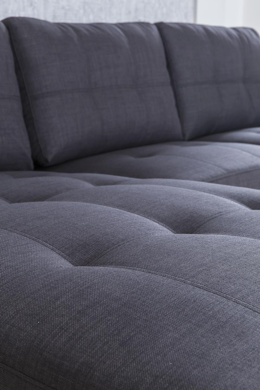 SALE Couch Ecksofa Polsterecke 270 X 165 Cm Grau Stoff Links Aviano Auf  Lager !