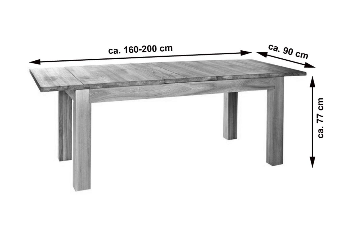 sale esstisch ausziehbar g nstig 160 200 x 90 cm ulmenholz damar. Black Bedroom Furniture Sets. Home Design Ideas