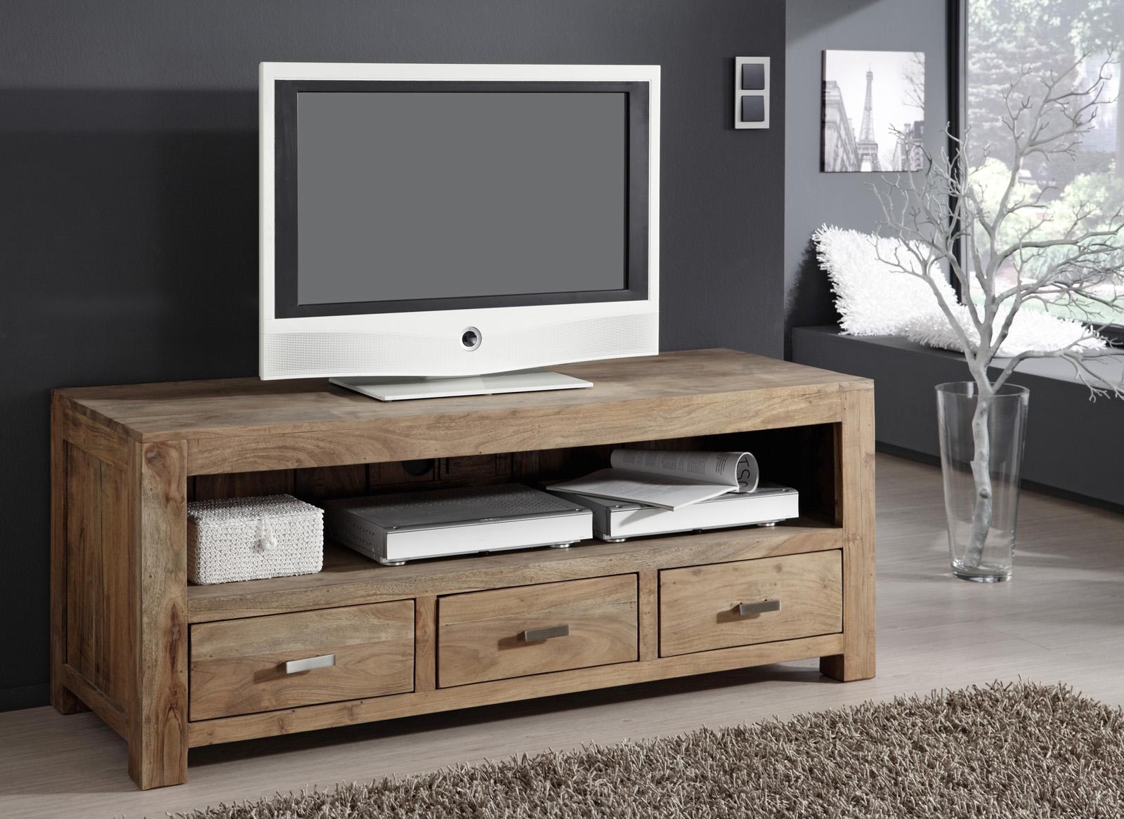 sale lowboard tv board 150 x 60 cm massiv akazie stone saber 6618. Black Bedroom Furniture Sets. Home Design Ideas