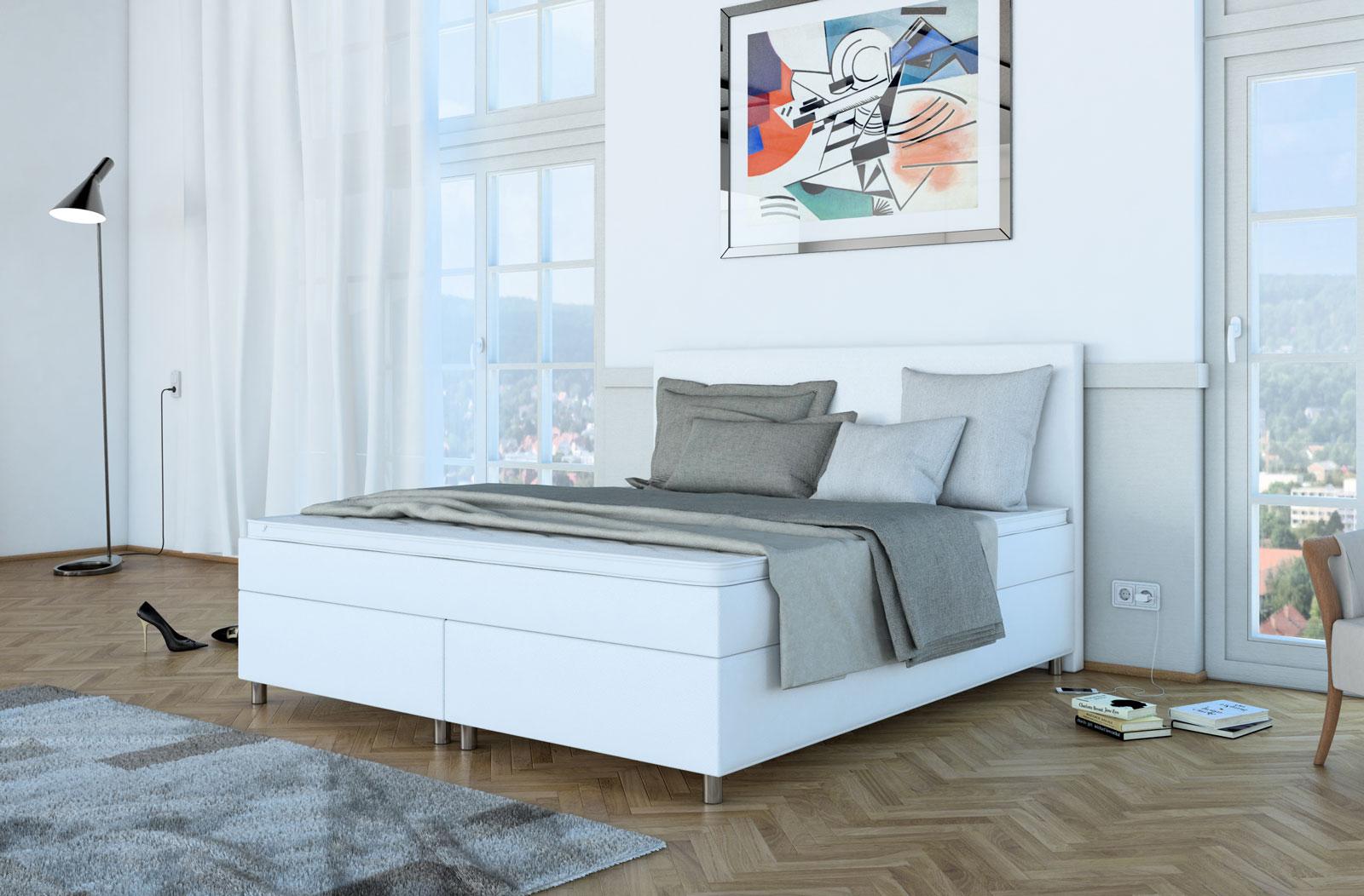 SAM® Boxspringbett Hotelbett 180 x 200 cm weiß NEO Demnächst !