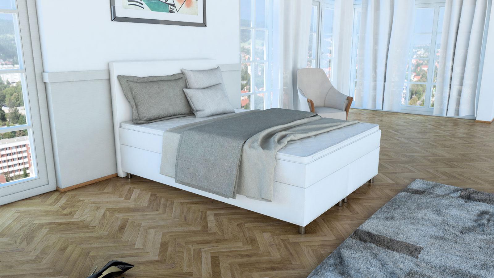 Wundervoll Boxspringbett 140x200 Weiß Sammlung Von
