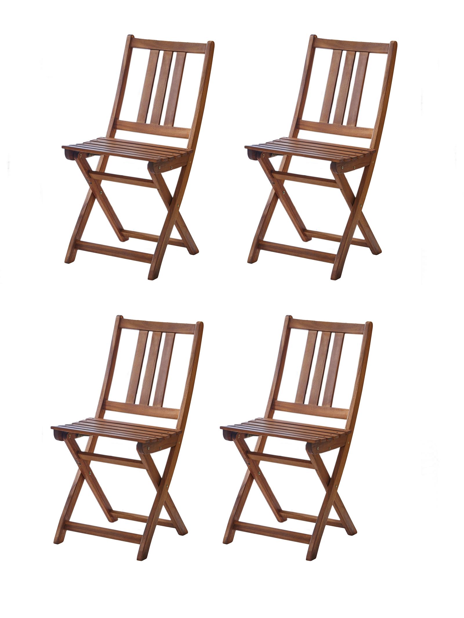 sam balkonst hle gartenst hle 4er set aus akazienholz. Black Bedroom Furniture Sets. Home Design Ideas