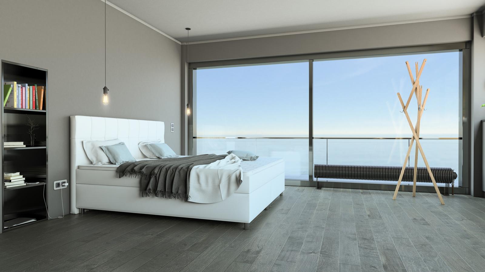 SAM® Boxspringbett Hotelbett 180x200 cm weiß Zalan