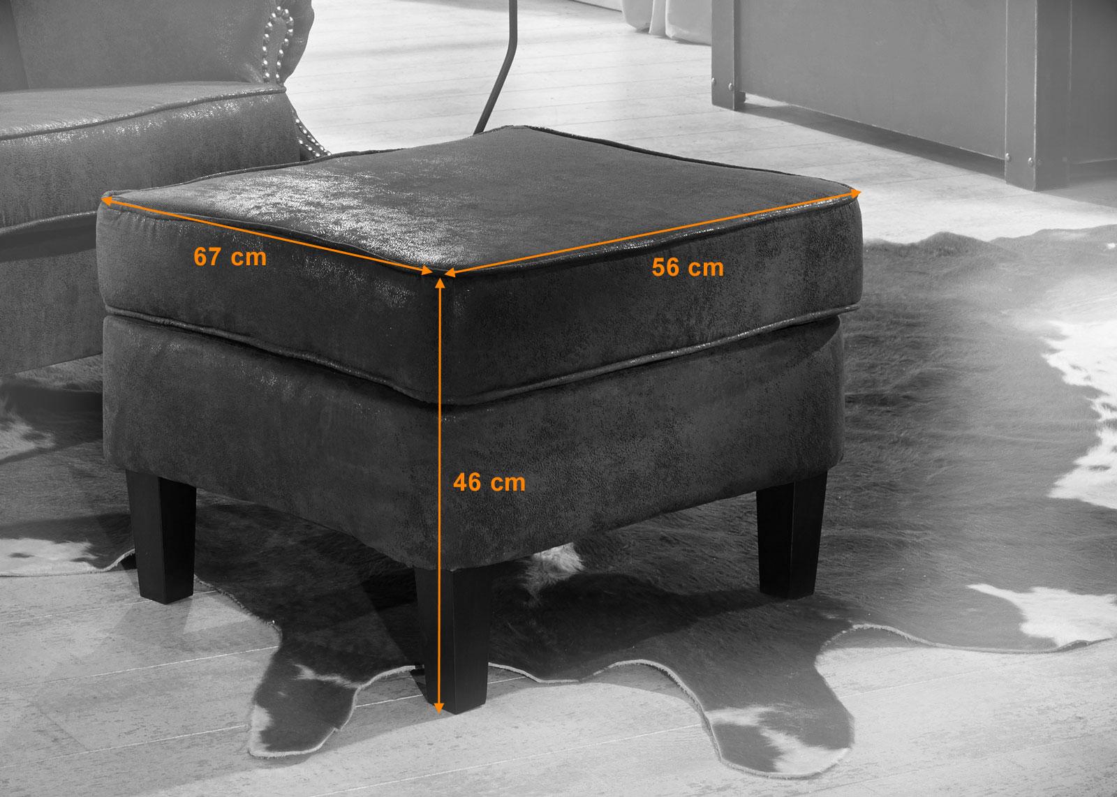 SAM® Wohnzimmer Design Hocker Wildlederoptik Bedford ...