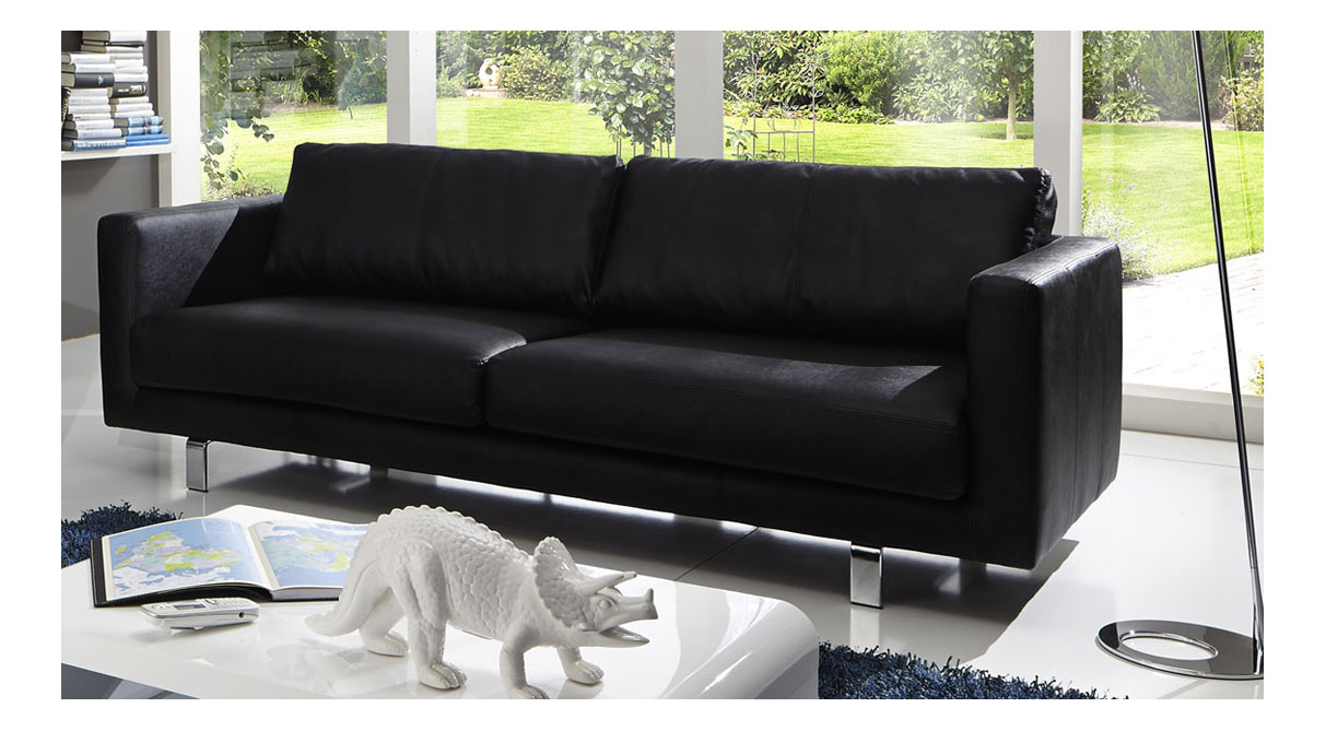 Sam design sofa schwarz 3 sitzer belfast bestellware for Couch 0 finanzierung