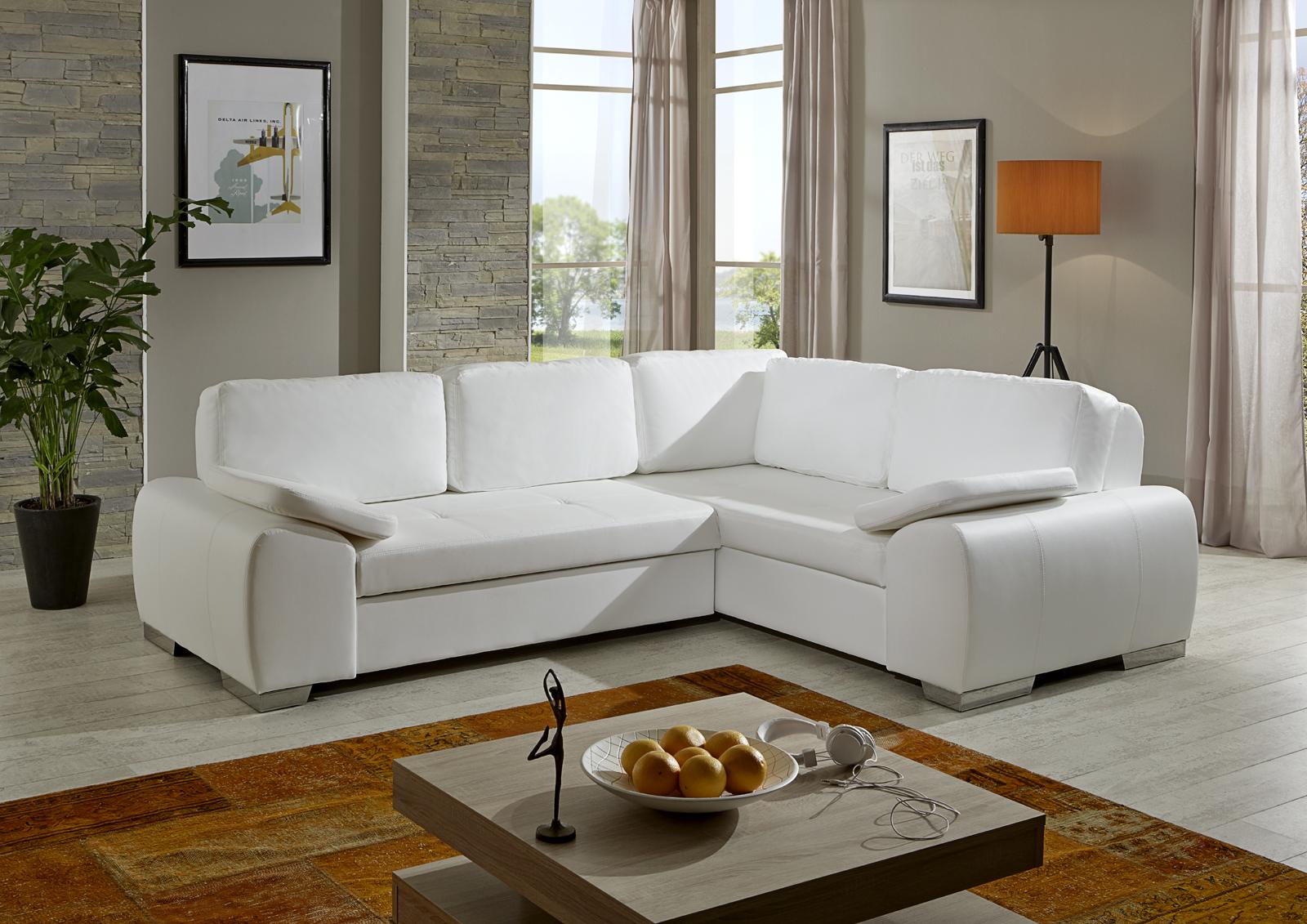 sam ecksofa wei ernesto schlafsofa 250 x 200 cm bestellware. Black Bedroom Furniture Sets. Home Design Ideas
