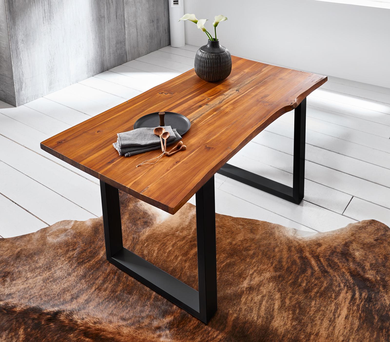 Esstisch Akazie Baumkante : sam esstisch baumkante massiv akazie cognac 140 x 85 ~ Watch28wear.com Haus und Dekorationen