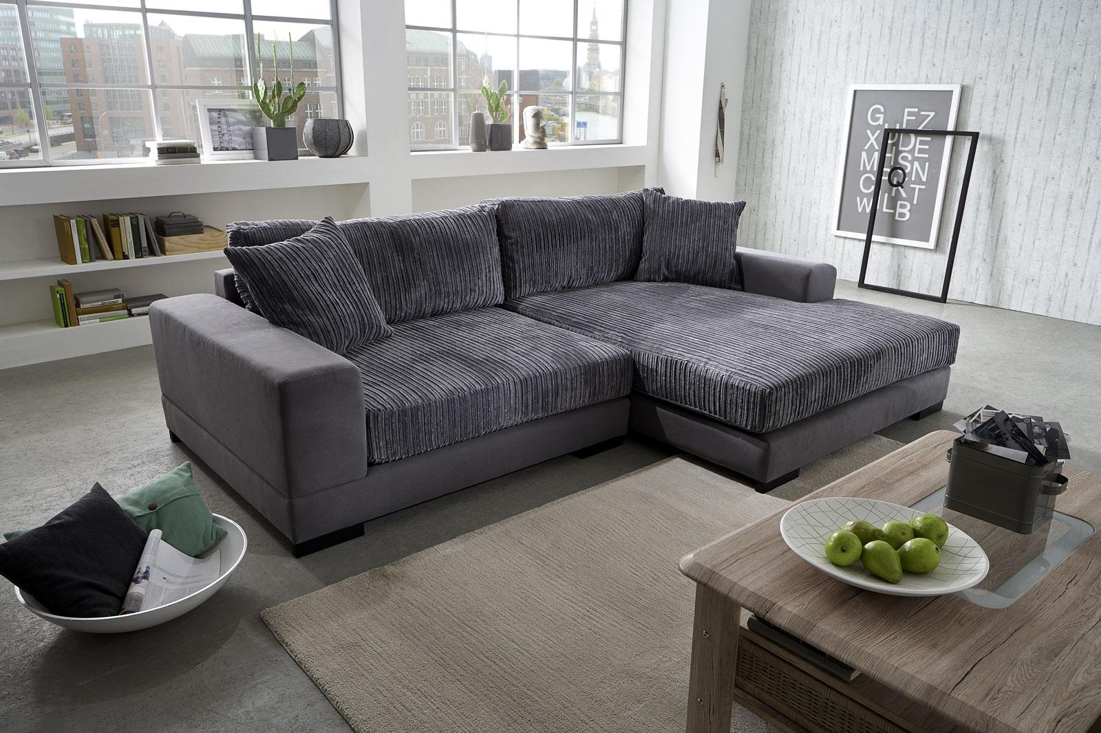 sam ecksofa grau jan polsterecke 275 x 160 cm bestellware. Black Bedroom Furniture Sets. Home Design Ideas