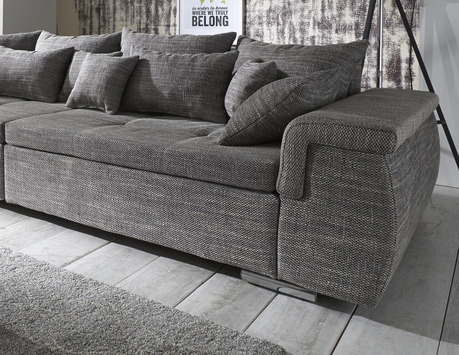 sam design big sofa grau 278 x 117 cm whopper bestellware. Black Bedroom Furniture Sets. Home Design Ideas