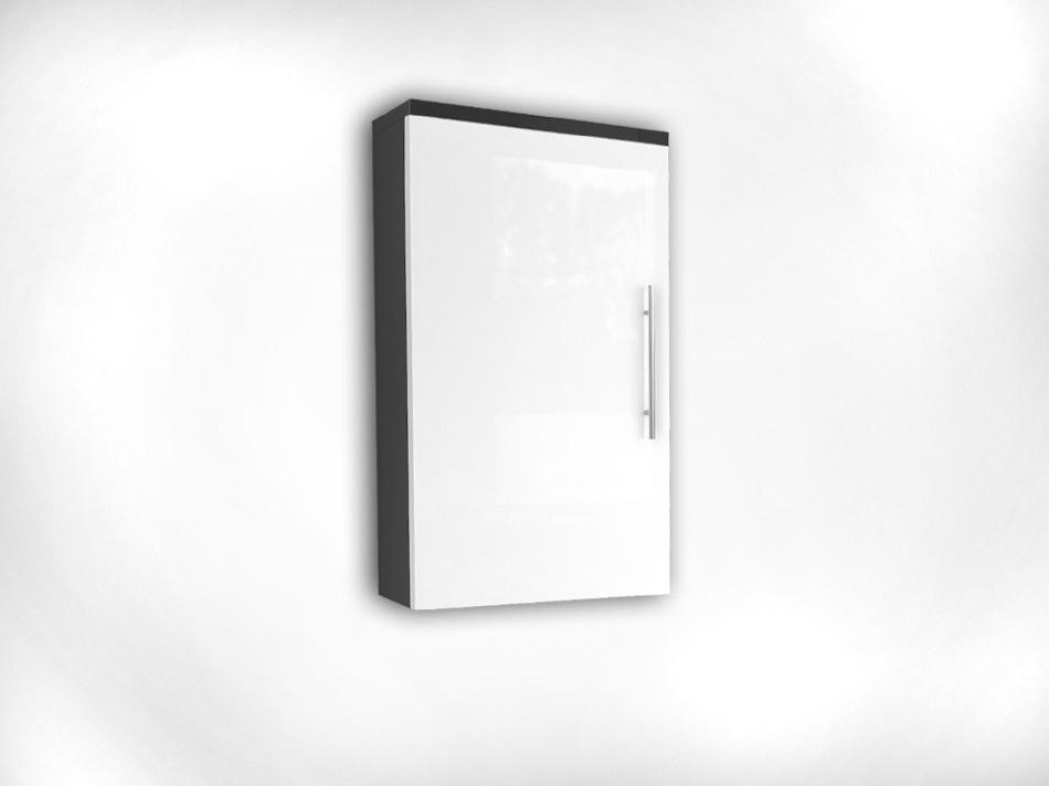 SAM® Bad Hängeschrank Badezimmerschrank weiß/anthrazit SANTANA