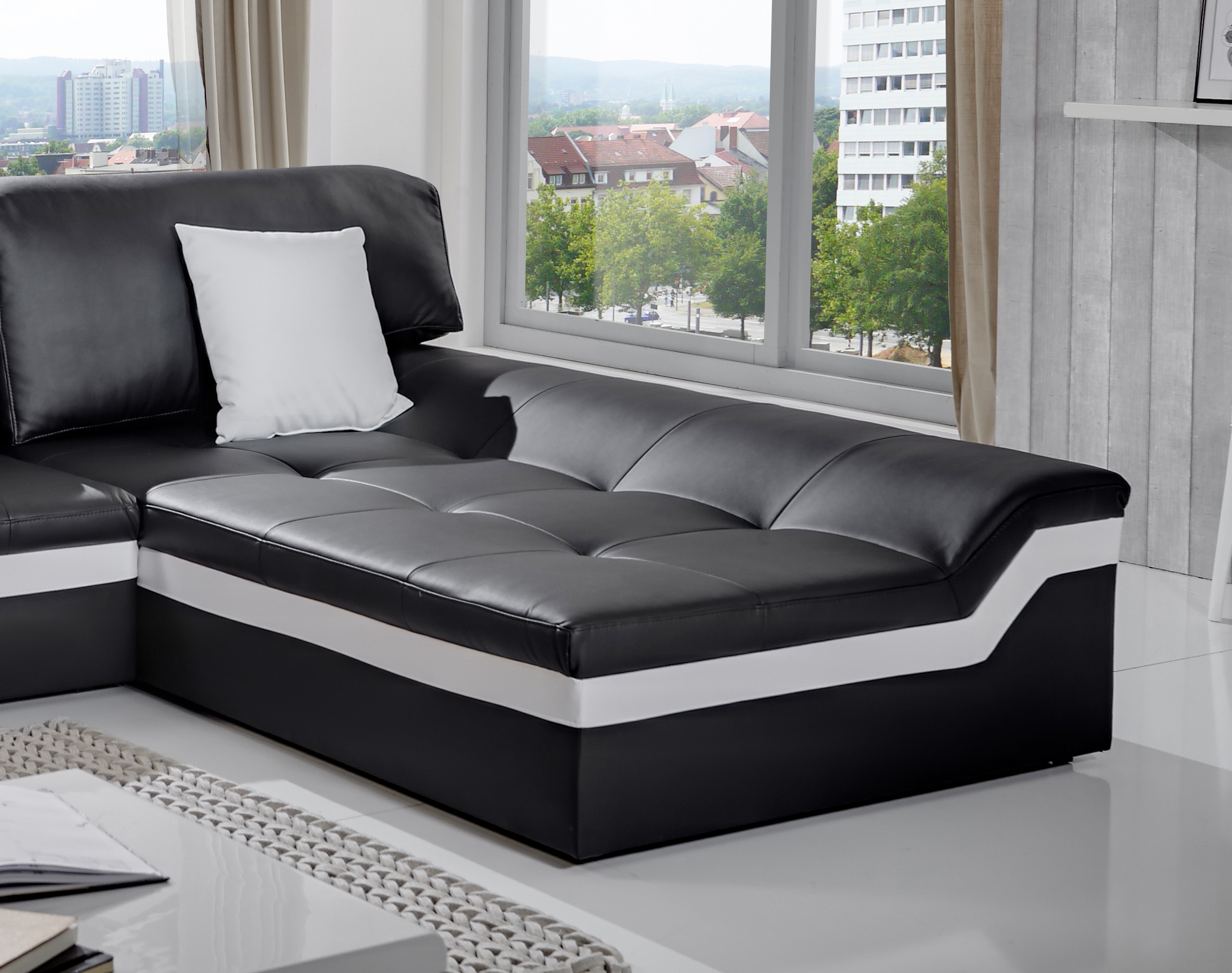 sam ecksofa grau stoff sofa mistico 270 x 220 cm auf lager. Black Bedroom Furniture Sets. Home Design Ideas