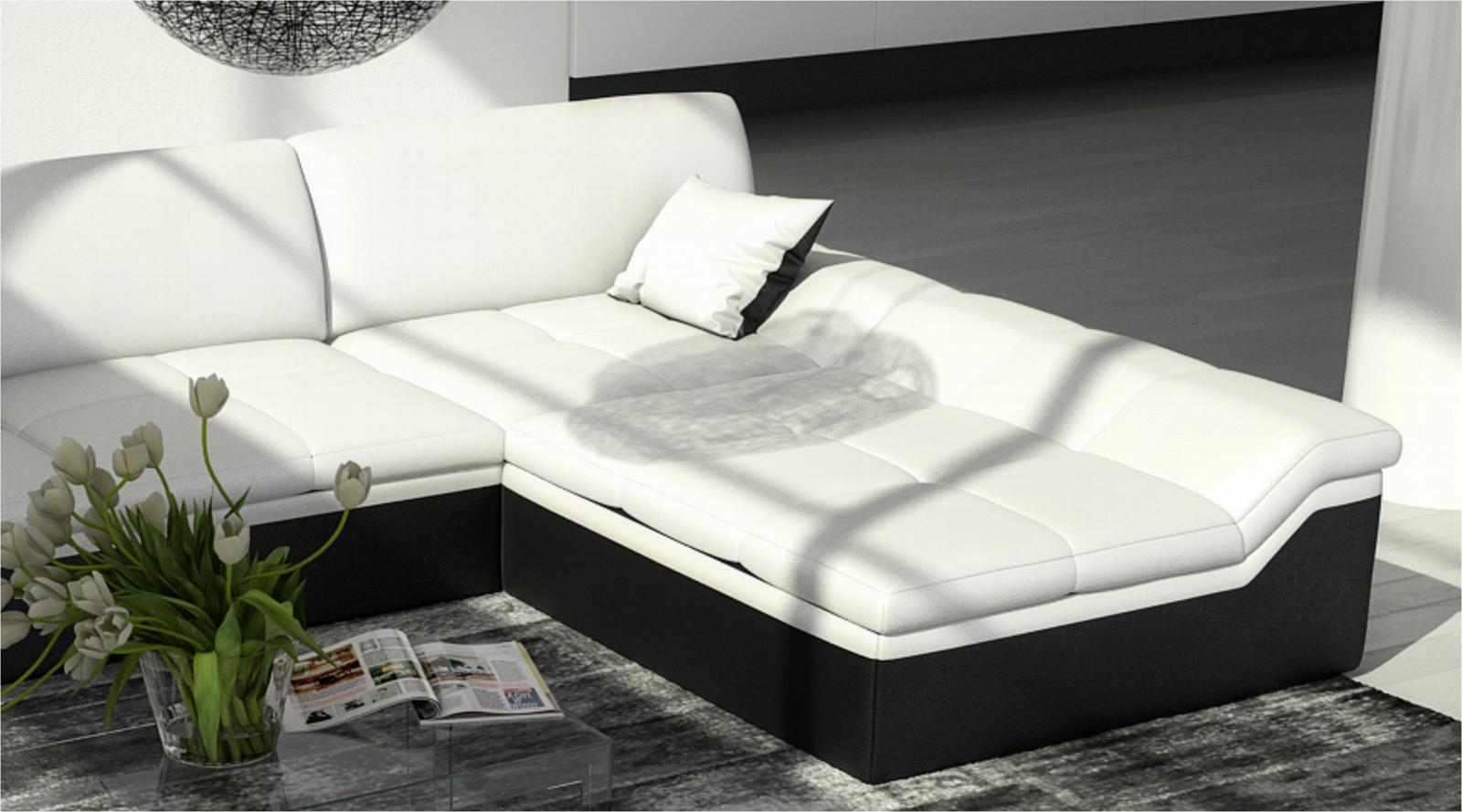 sam ecksofa wei schwarz mistico polsterecke 270 x 220 cm bestellware. Black Bedroom Furniture Sets. Home Design Ideas