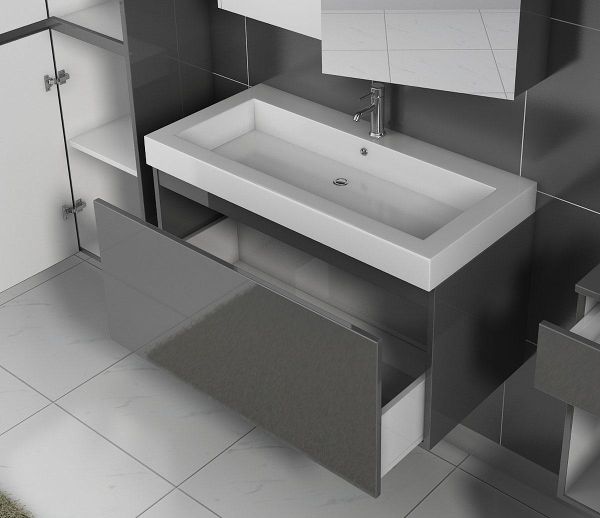 sam badm bel 5tlg set softclose grau hochglanz parma 100 cm demn chst. Black Bedroom Furniture Sets. Home Design Ideas