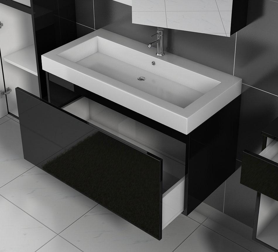 sam badezimmerm bel parma 2tlg schwarz hochglanz 100 cm. Black Bedroom Furniture Sets. Home Design Ideas