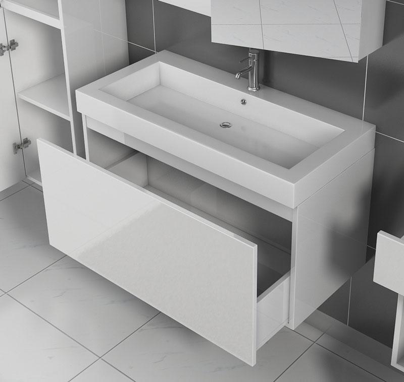 sam badezimmerm bel parma 2tlg wei hochglanz 100 cm auf lager. Black Bedroom Furniture Sets. Home Design Ideas