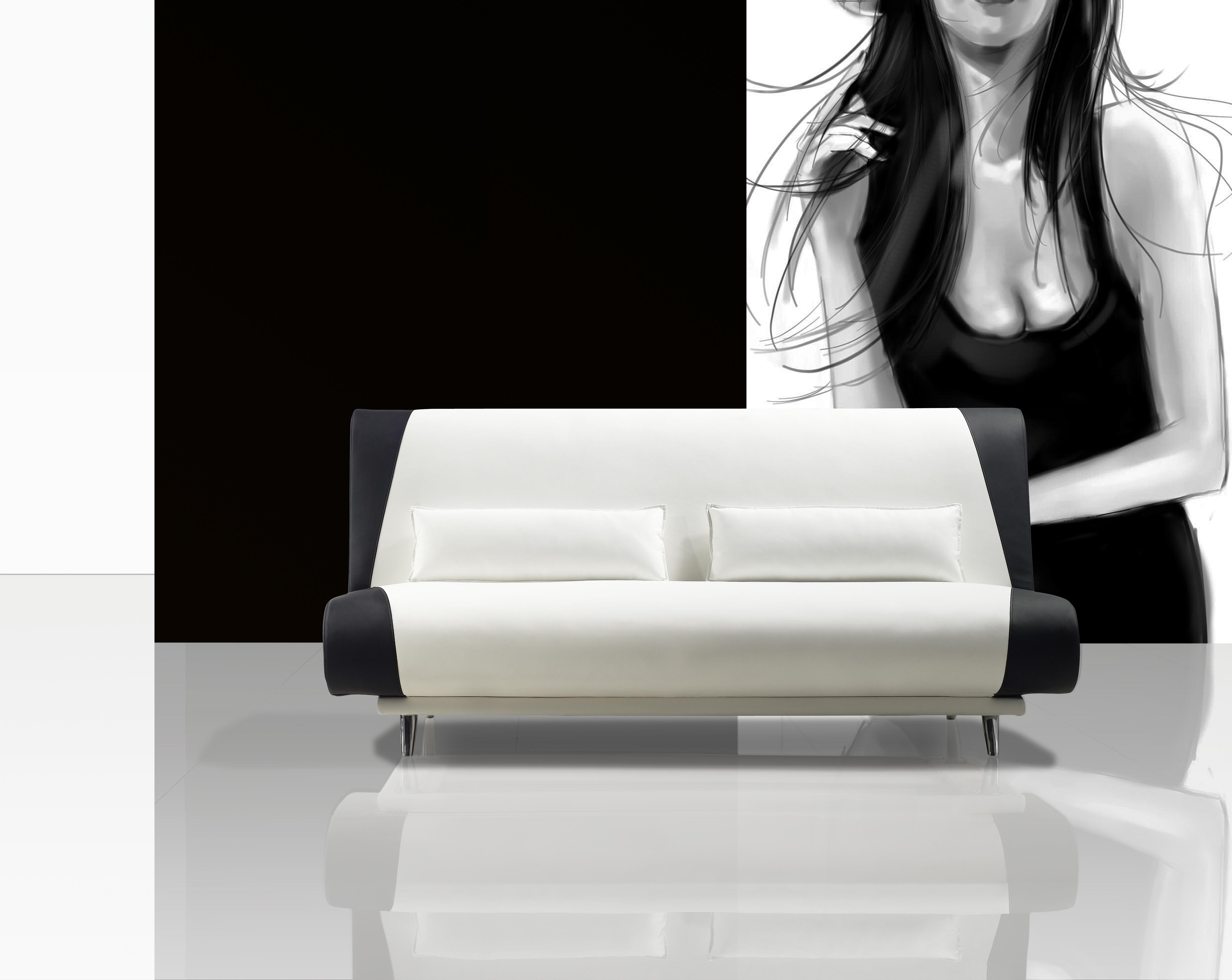 Sam schlafsofa wei schwarz sofa milano 200 cm auf lager for Schlafcouch auf rechnung