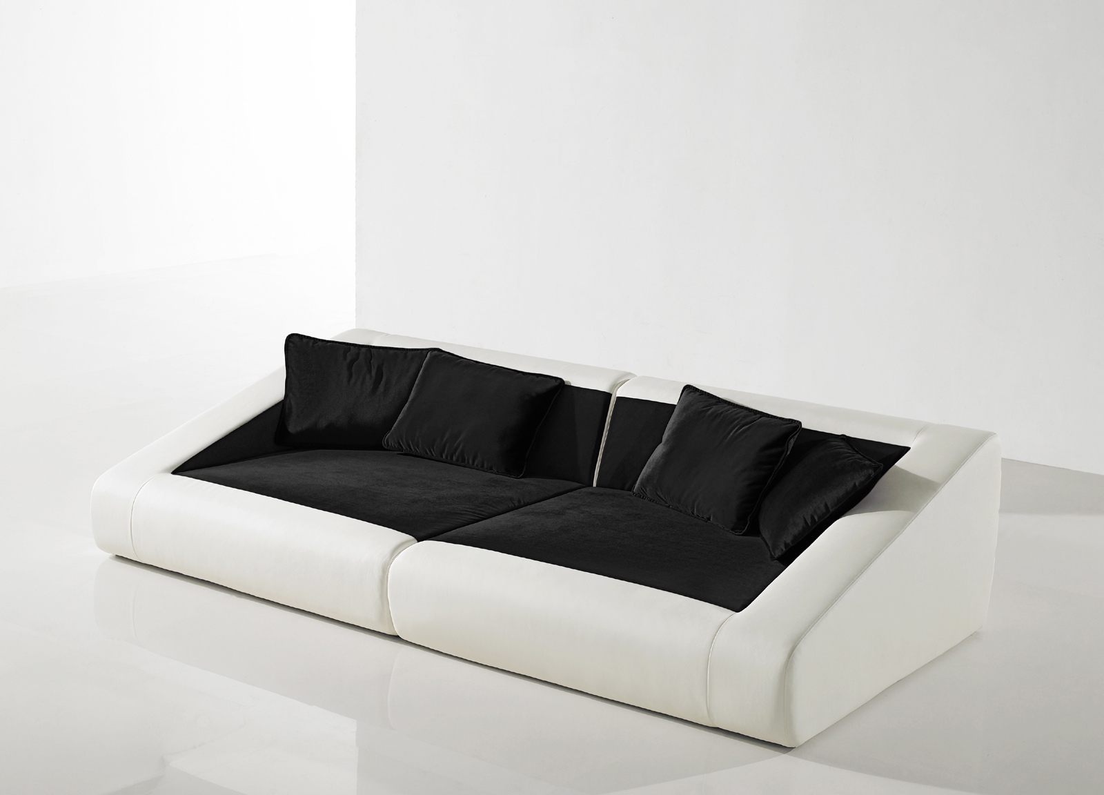 Sam schlafsofa 4er wei schwarz sofa siena 260 cm auf lager for Schlafsofa 0 finanzierung
