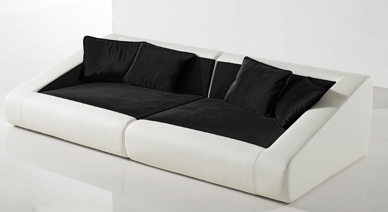 Sam schlafsofa 4er wei schwarz sofa siena 260 cm auf lager for 4er schlafsofa