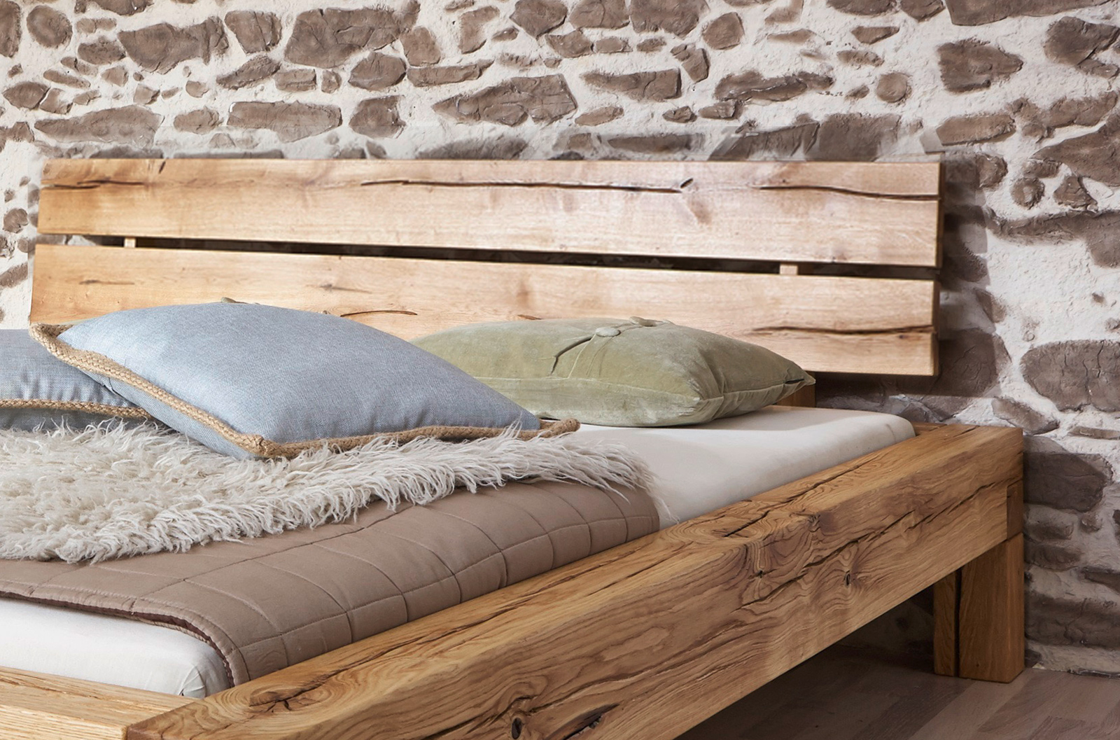 sam balkenbett elias massiv holzbett 180 x 200 cm demn chst. Black Bedroom Furniture Sets. Home Design Ideas