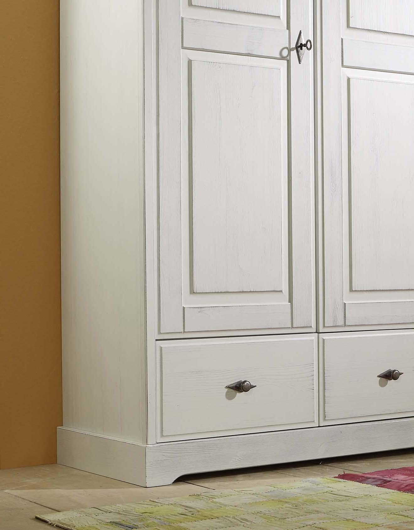 sam kleiderschrank wei kiefer massiv 160 x 200 cm marie. Black Bedroom Furniture Sets. Home Design Ideas