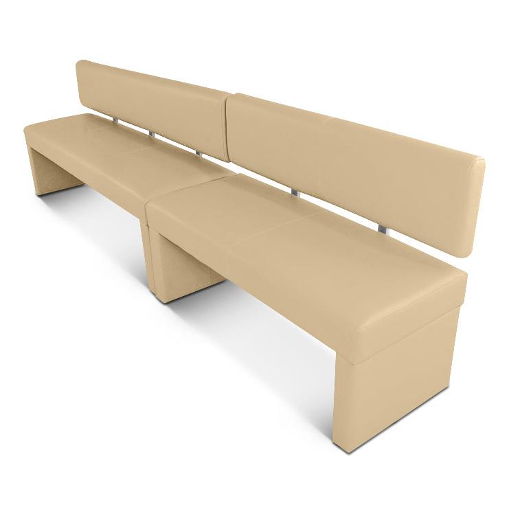 Sam esszimmer sitzbank recyceltes leder creme 180 cm for Esszimmer sessel leder