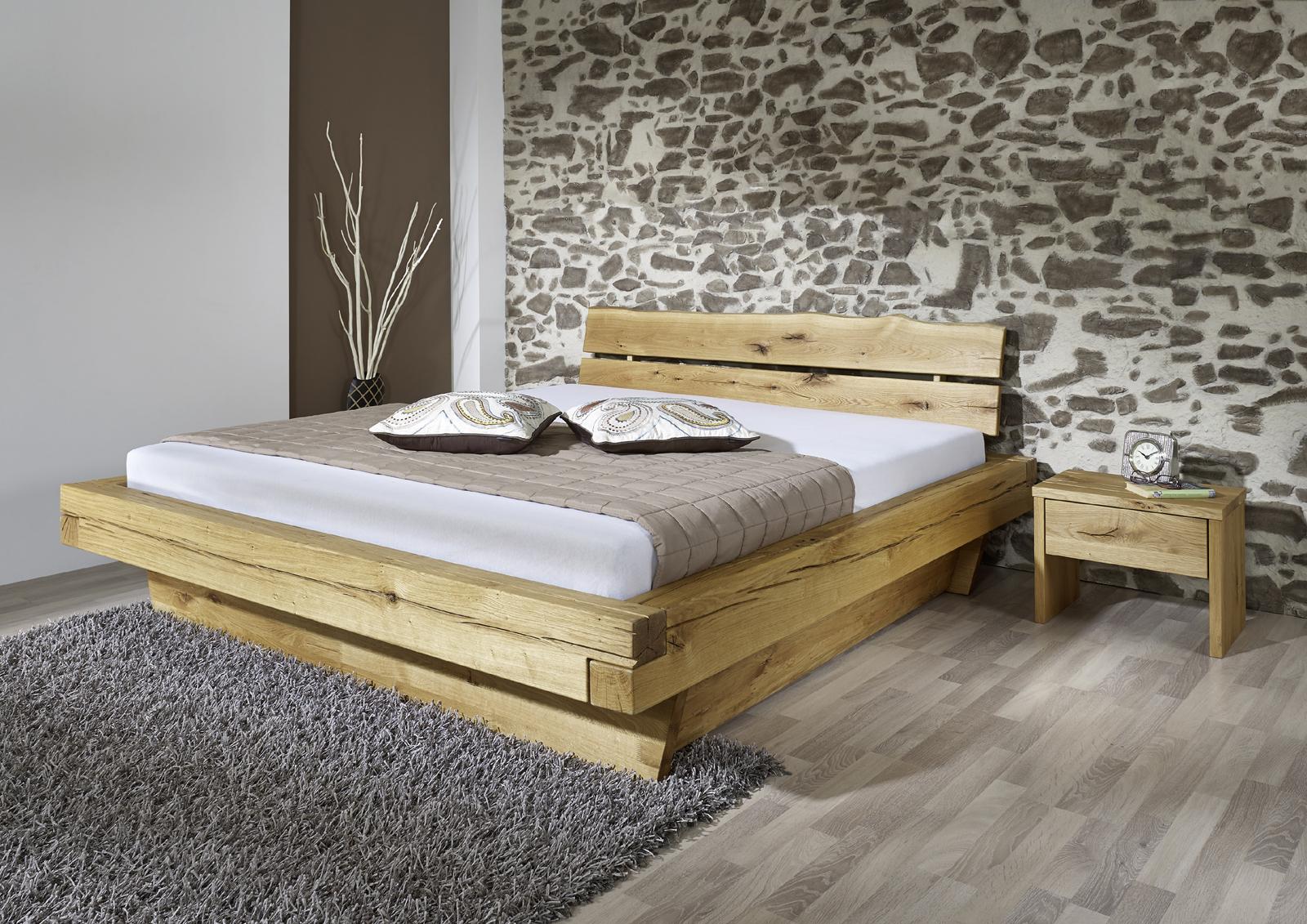 sam balkenbett josef mit schubk sten massiv 180x200 cm. Black Bedroom Furniture Sets. Home Design Ideas