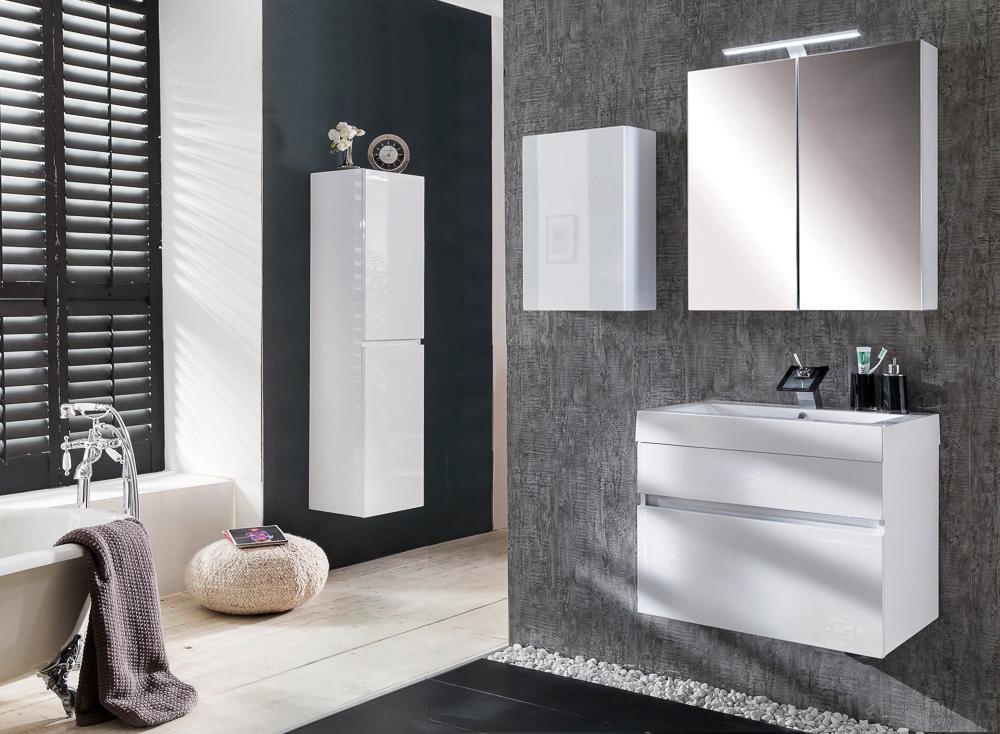 SAM® Badezimmermöbel PARMA 4tlg weiß Hochglanz 70 cm