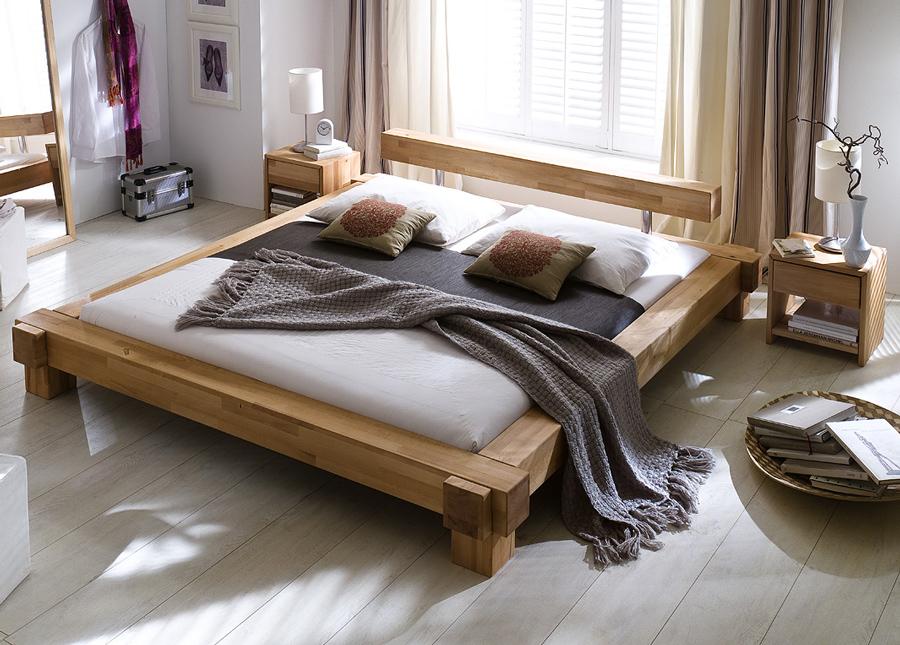 sam holzbett massive kernbuche ge lt 140x200 cm victoria. Black Bedroom Furniture Sets. Home Design Ideas