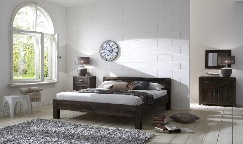 sam vollholz bett sheesham 180 cm palisander stone wiam. Black Bedroom Furniture Sets. Home Design Ideas