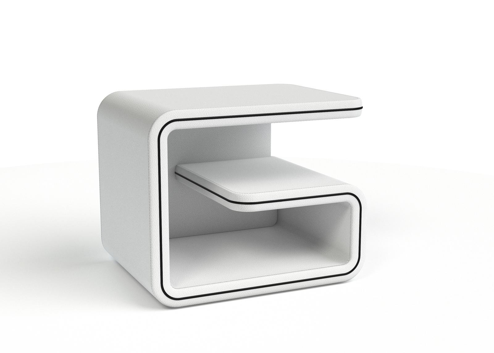 sam nachtkommode wei cords schwarz rechts nako 99. Black Bedroom Furniture Sets. Home Design Ideas