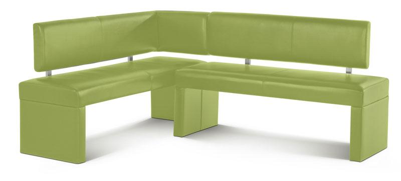 SAM® Eckbank recyceltes Leder SESTO 195 x 152 cm lemon green Auf