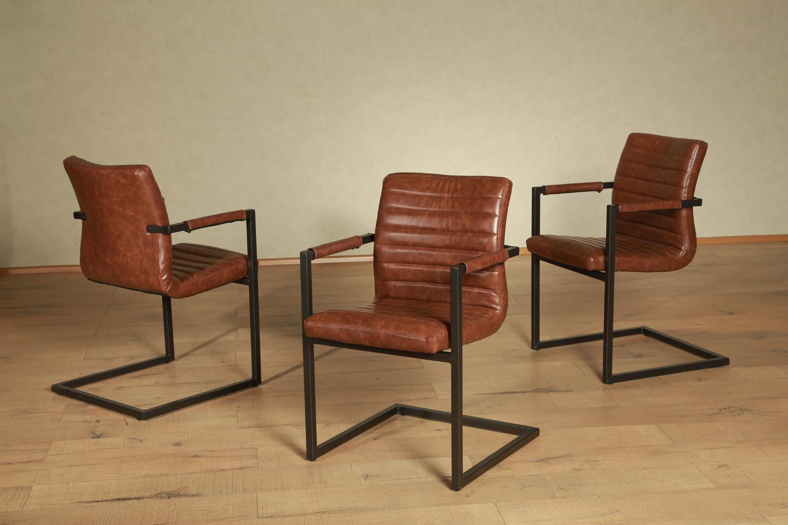 Sam esszimmer schwing stuhl braun eisen parzivo auf lager for Stuhl esszimmer modern
