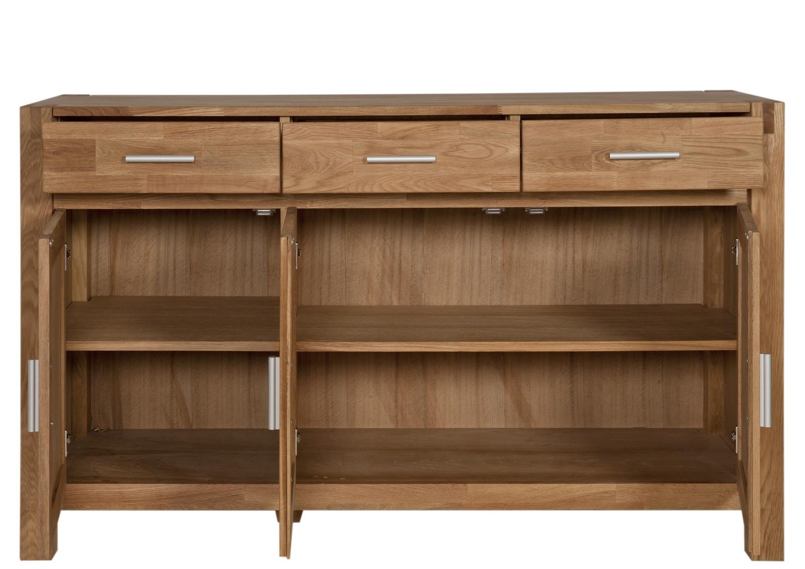 sam sideboard eiche teilmassiv 140 cm sit okay 3803 01 auf lager. Black Bedroom Furniture Sets. Home Design Ideas