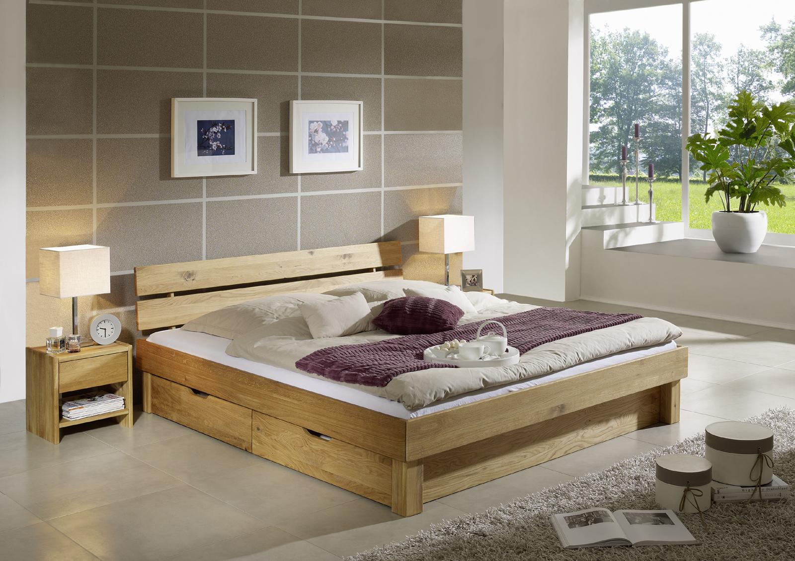 sam massivholzbett 200 cm geteilt wildeiche bettk sten campino demn chst. Black Bedroom Furniture Sets. Home Design Ideas