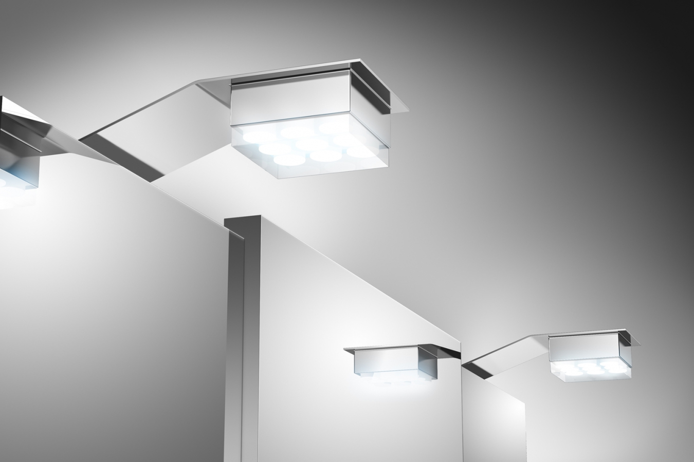 SAM® Badezimmer Spiegelschrank Beleuchtung LED-2er Set Auf Lager ...