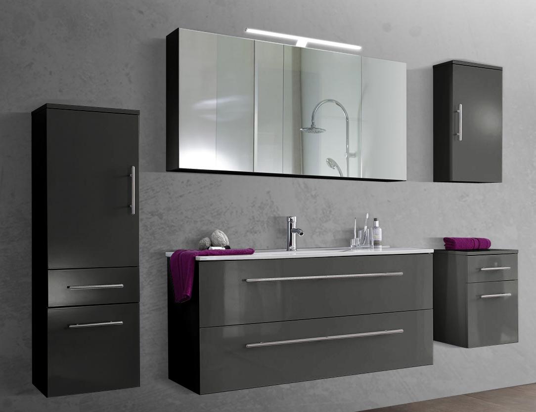 badezimmer accessoires set grau. Black Bedroom Furniture Sets. Home Design Ideas