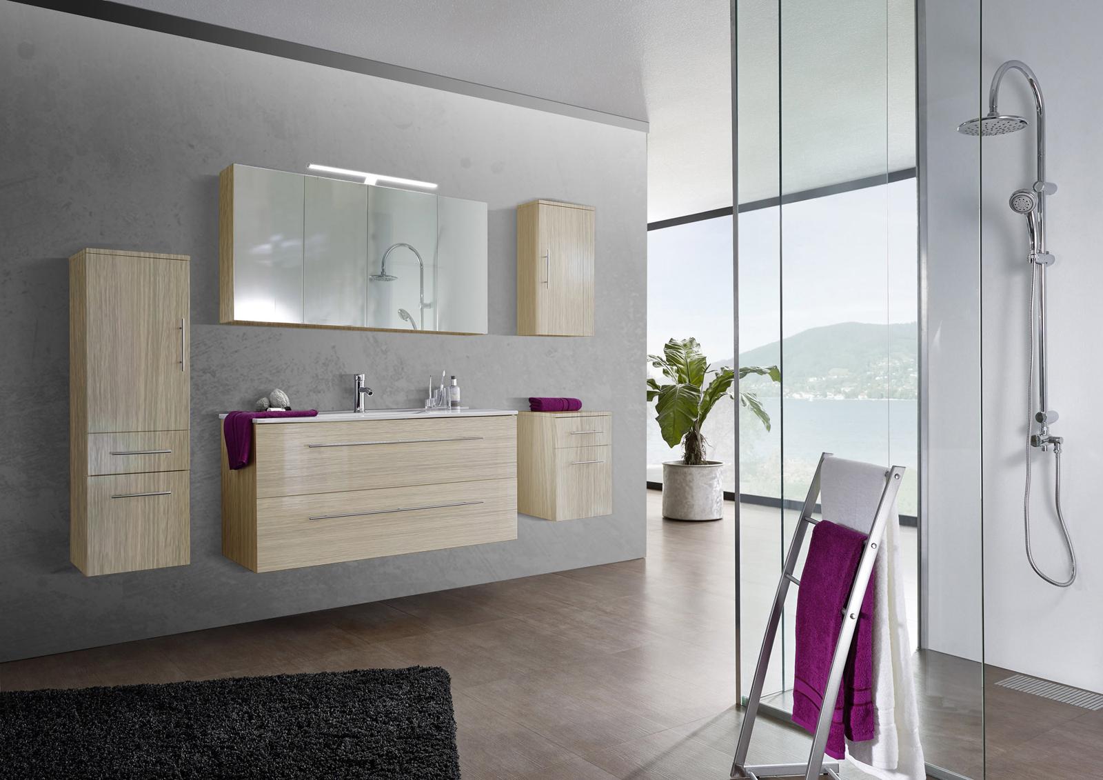 sam 5tlg badezimmer set sonomaeiche 120 cm verena auf lager. Black Bedroom Furniture Sets. Home Design Ideas
