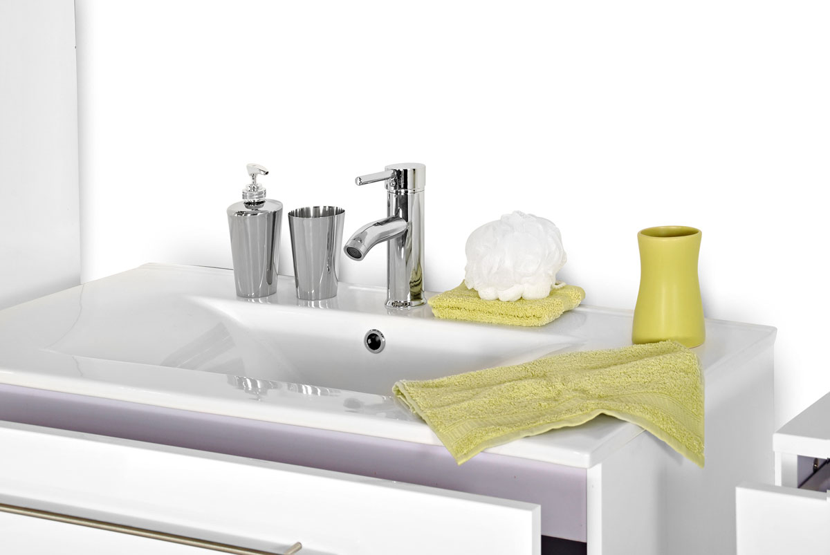 sam 2tlg badezimmer set spiegelschrank wei 80 cm verena auf lager. Black Bedroom Furniture Sets. Home Design Ideas