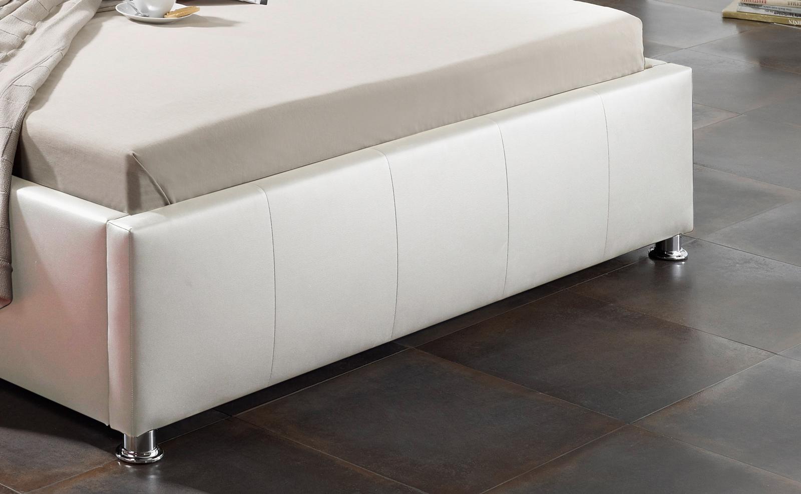 sam design bett 160 x 200 cm wei kira bettkasten auf lager. Black Bedroom Furniture Sets. Home Design Ideas