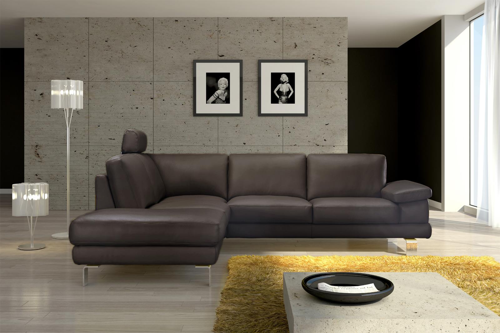 sam ecksofa braun polsterecke mezzo 220 x 270 cm auf lager. Black Bedroom Furniture Sets. Home Design Ideas