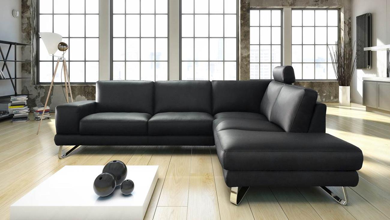sam ecksofa schwarz polsterecke mac 270 x 220 cm auf lager. Black Bedroom Furniture Sets. Home Design Ideas