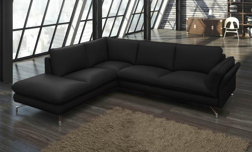 sam ecksofa schwarz polsterecke vivano 220 x 265 cm auf lager. Black Bedroom Furniture Sets. Home Design Ideas