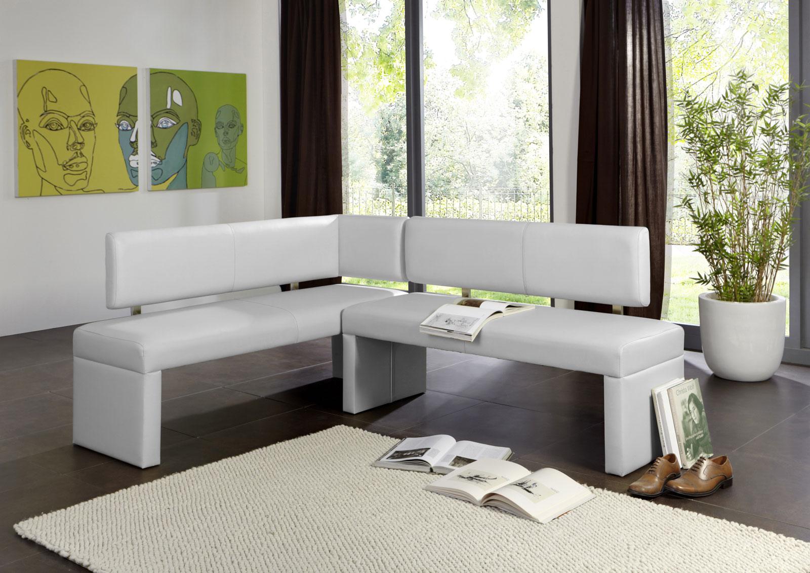 sam eckbank recyceltes leder 195x152 selena wei auf lager. Black Bedroom Furniture Sets. Home Design Ideas